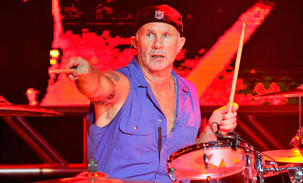 SAN FRANCISCO, CA - FEBRUARY 06:  Musician Chad Smith of The Red Hot Chili Peppers performs onstage during the DirecTV Super Saturday Night co-hosted by Mark Cuban's AXS TV at Pier 70 on February 6, 2016 in San Francisco, California.  (Photo by Steve Jennings/Getty Images for DirecTV)